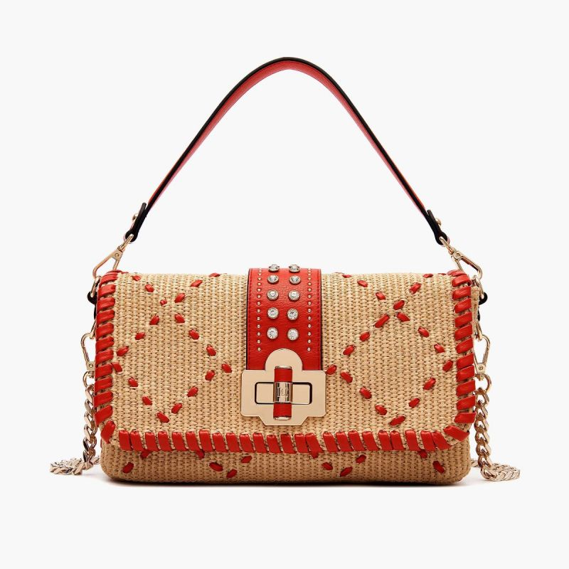 CLUTCH MESOPOTAMIA NATURAL/RED