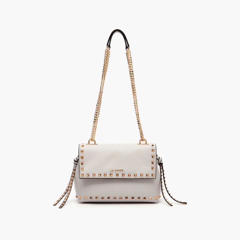 SHOULDER BAG STUD LIGHT GREY