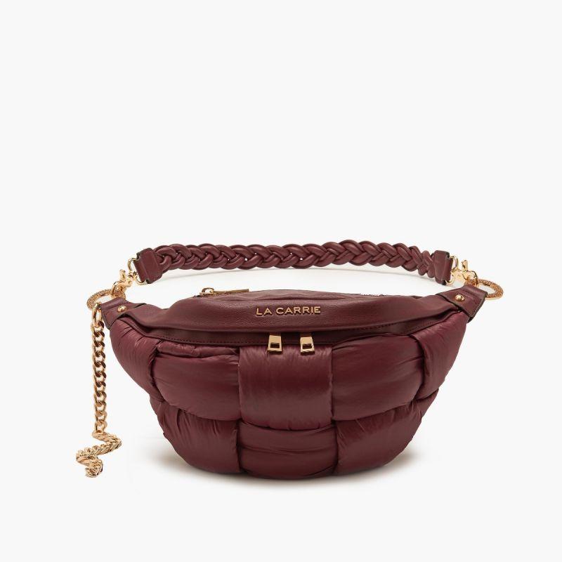 Bum bag/belt bag padded burgundy