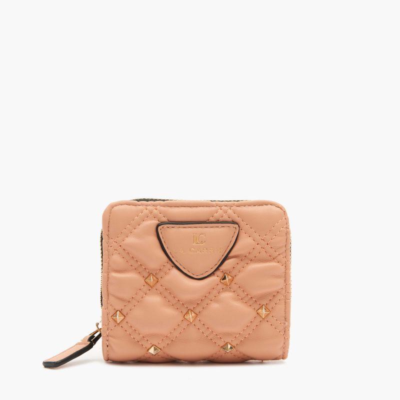 Portafoglio Tinette small wallet pu Rosa antico