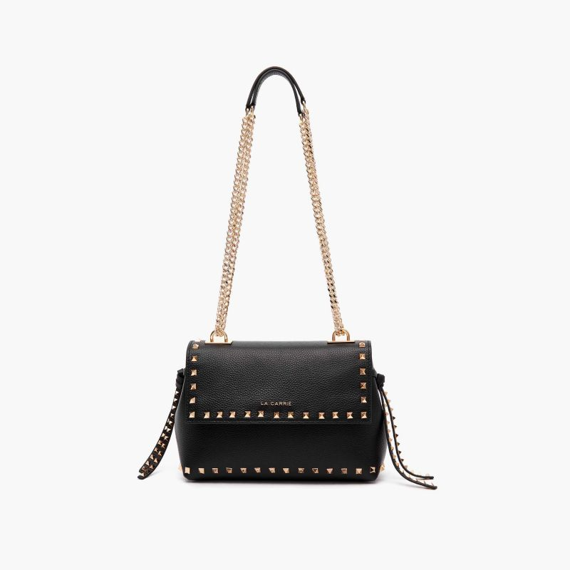 SHOULDER BAG STUD BLACK