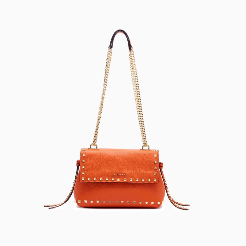 SHOULDER BAG STUD ORANGE